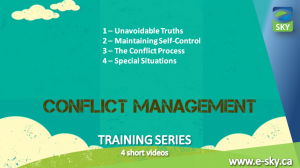 Professional Productivity - Conflict Management Training Series