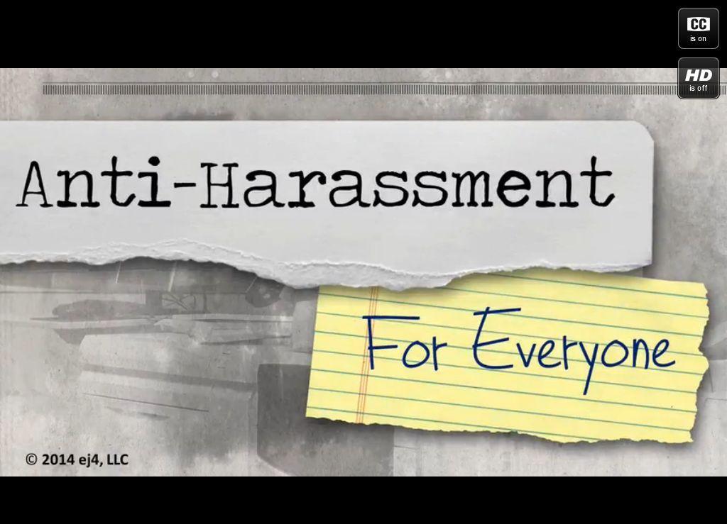 Anti Harassment Training Series