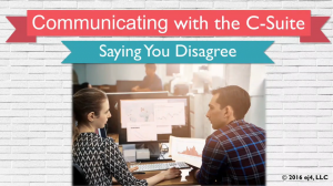 Communications - Communicating with the C-Suite Training Series